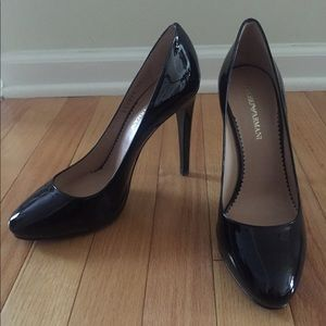 Emporio Armani Patent Leather black pumps